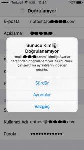 iphone mail kurulum ekranı 6